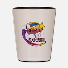 I Believe In Volleyball Cute Believer Design Shot