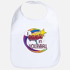 I Believe In Volleyball Cute Believer Design Bib