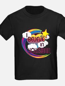 I Believe In Volleyball Cute Believer Design T