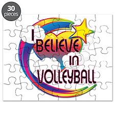 I Believe In Volleyball Cute Believer Design Puzzl