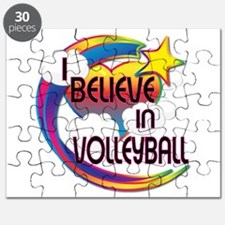 I Believe In Volleyball Cute Believer Design Puzzl