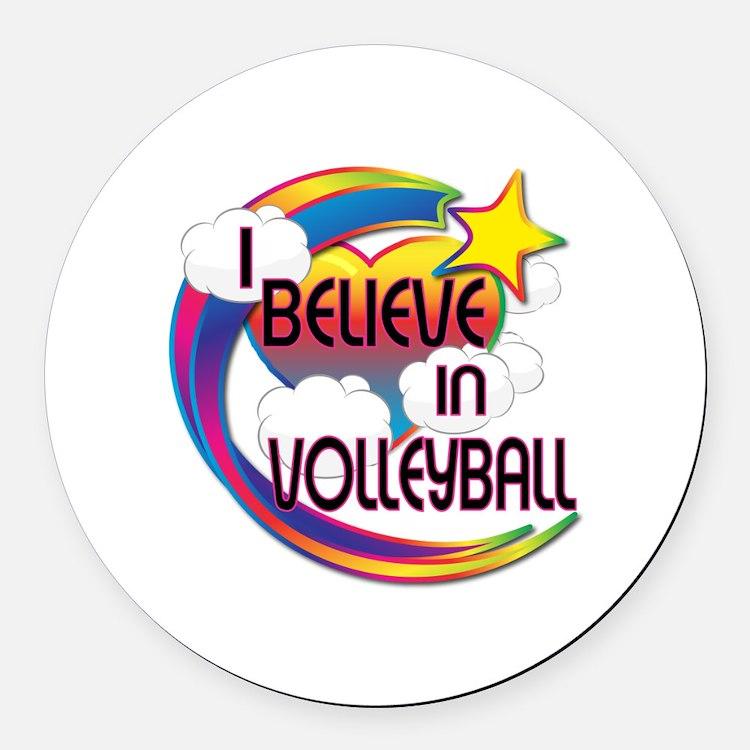 I Believe In Volleyball Cute Believer Design Round