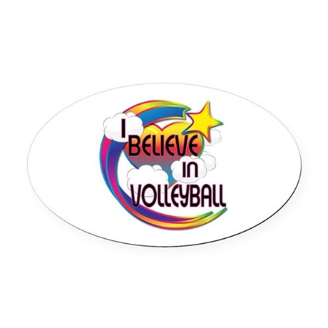 I Believe In Volleyball Cute Believer Design Oval