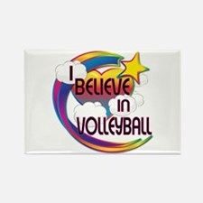 I Believe In Volleyball Cute Believer Design Recta
