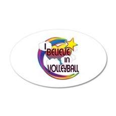I Believe In Volleyball Cute Believer Design Wall Decal