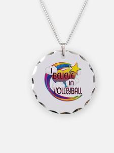 I Believe In Volleyball Cute Believer Design Neckl