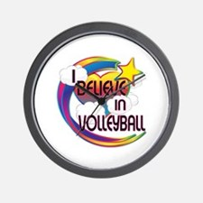 I Believe In Volleyball Cute Believer Design Wall