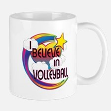 I Believe In Volleyball Cute Believer Design Mug