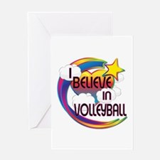 I Believe In Volleyball Cute Believer Design Greet