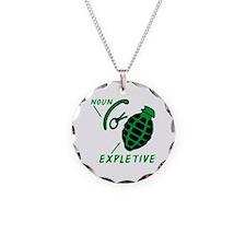 Hand Grenade Expletive Necklace