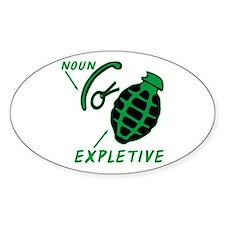 Hand Grenade Expletive Decal