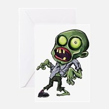 Scary cartoon zombie Greeting Card