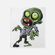 Scary cartoon zombie Throw Blanket