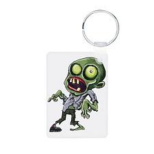Scary cartoon zombie Keychains