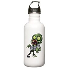 Scary cartoon zombie Sports Water Bottle