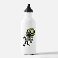 Scary cartoon zombie Sports Water Bottle