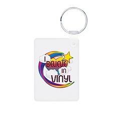 I Believe In Vinyl Cute Believer Design Keychains