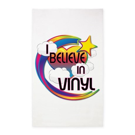 I Believe In Vinyl Cute Believer Design 3'x5' Area