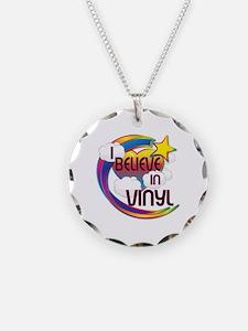 I Believe In Vinyl Cute Believer Design Necklace