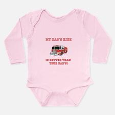 Cool Firefighters Long Sleeve Infant Bodysuit