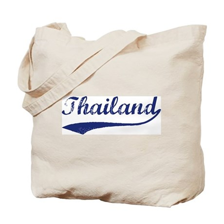 Blue Vintage: Thailand Tote Bag