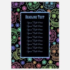CUSTOM TEXT Sugar Skull Pattern Invitations