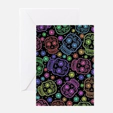 Day Of The Dead Pattern Greeting Cards