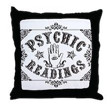 Psychic Readings black Throw Pillow