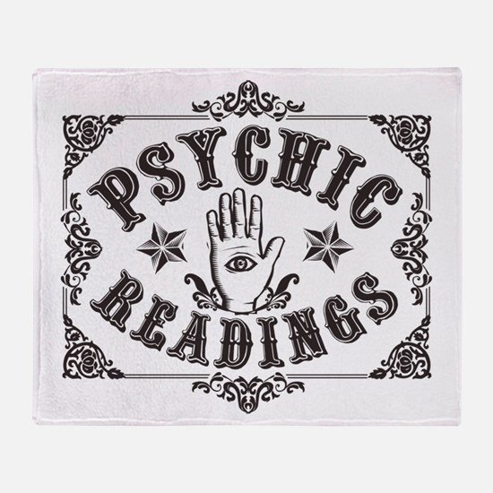 Psychic Readings black Throw Blanket