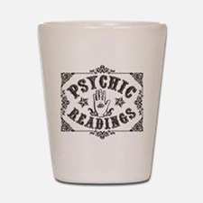 Psychic Readings black Shot Glass