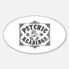Psychic Readings black Sticker (Oval)