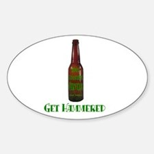 Hammered Beer Oval Decal