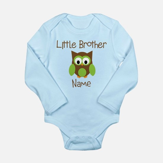 Personalized Little Brother Long Sleeve Infant Bod