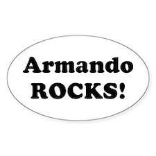 Armando Rocks! Oval Decal