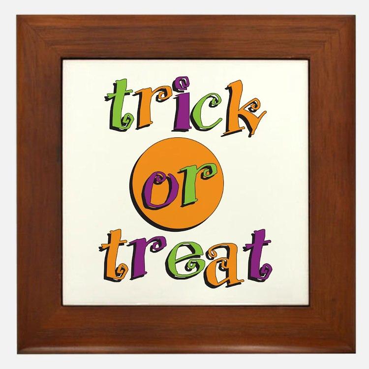 Trick or Treat 2 Framed Tile
