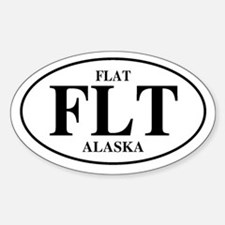 Flat Oval Decal
