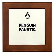 penguin fanatic Framed Tile