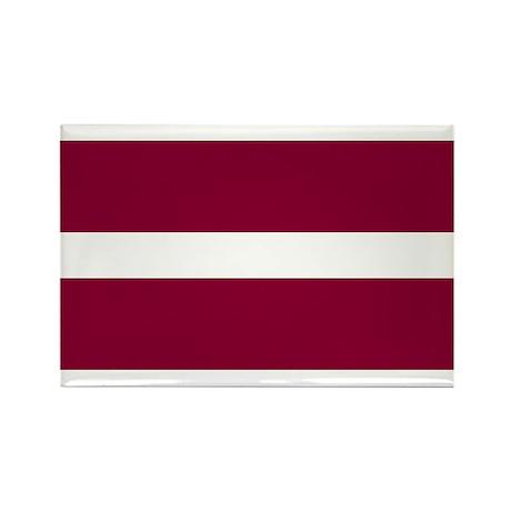 Flag of Latvia Rectangle Magnet (10 pack)