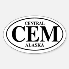 Central Oval Decal