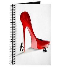 Giant Red Stiletto Art Journal