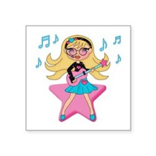 "She's Rockin It Square Sticker 3"" x 3"""
