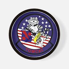 F-14 Tomcat VF-11 Red Rippers Wall Clock