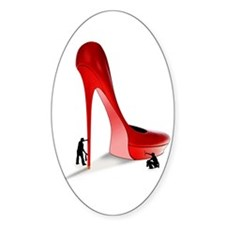 Giant Red Stiletto Art Decal