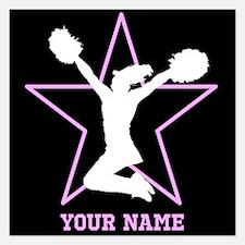 Cheerleader Pink and black Invitations