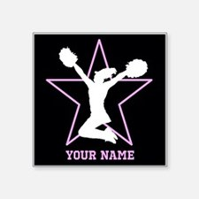 Cheerleader Pink and black Sticker
