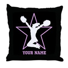 Cheerleader Pink and black Throw Pillow