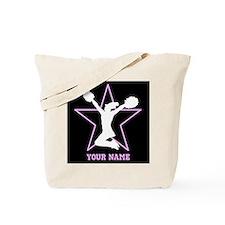 Cheerleader Pink and black Tote Bag