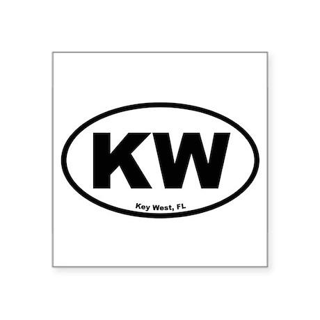 Key West Oval Sticker
