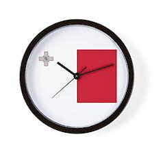 Flag of Malta Wall Clock