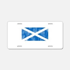 Aged Flag of Scotland Aluminum License Plate